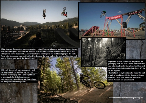 FreeriderMTB Mag (India) _ Issue 12 - Nov 2012_Page 25