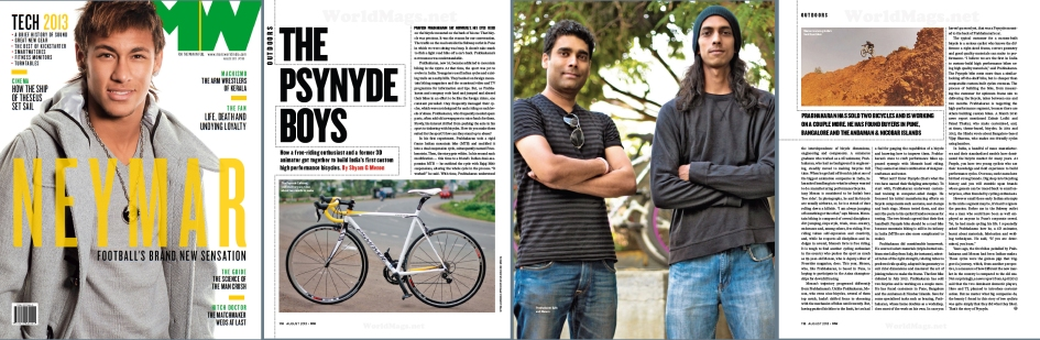"Psynyde Bicycles & Components feature in ""Mans World Magazine"" (2013)"