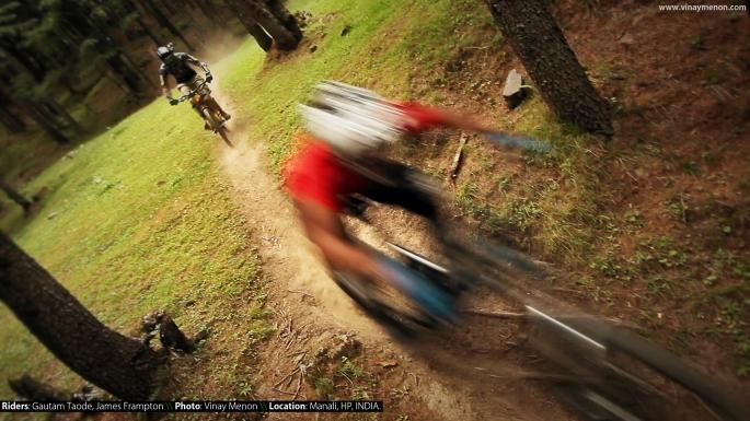Riders: Gautam Taode, James Frampton \\ Location: Manali, HP, INDIA.