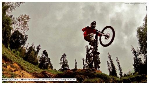 Rider: Ajay Padval \\ Location: Ski Himalayas Park, Solang, HP, INDIA.