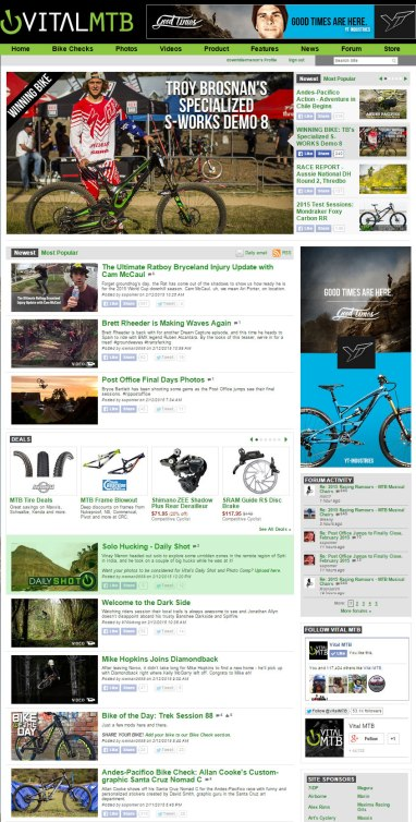 """Daily Shot"" on Vitalmtb.com"