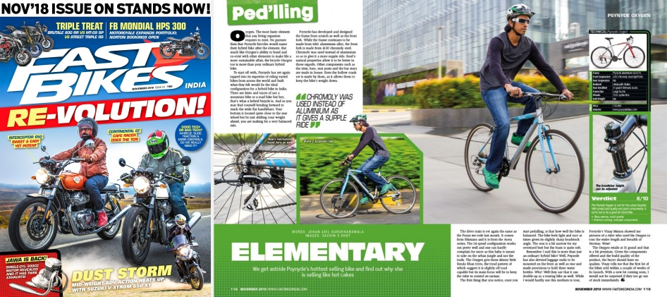 Fast Bikes India November 2018 Issue - Review of OXYGEN